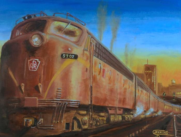 Железнодорожные картины. Christopher Jenkins 13