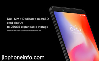 Redmi 6 Dual SIM along dedicated microSD card slot