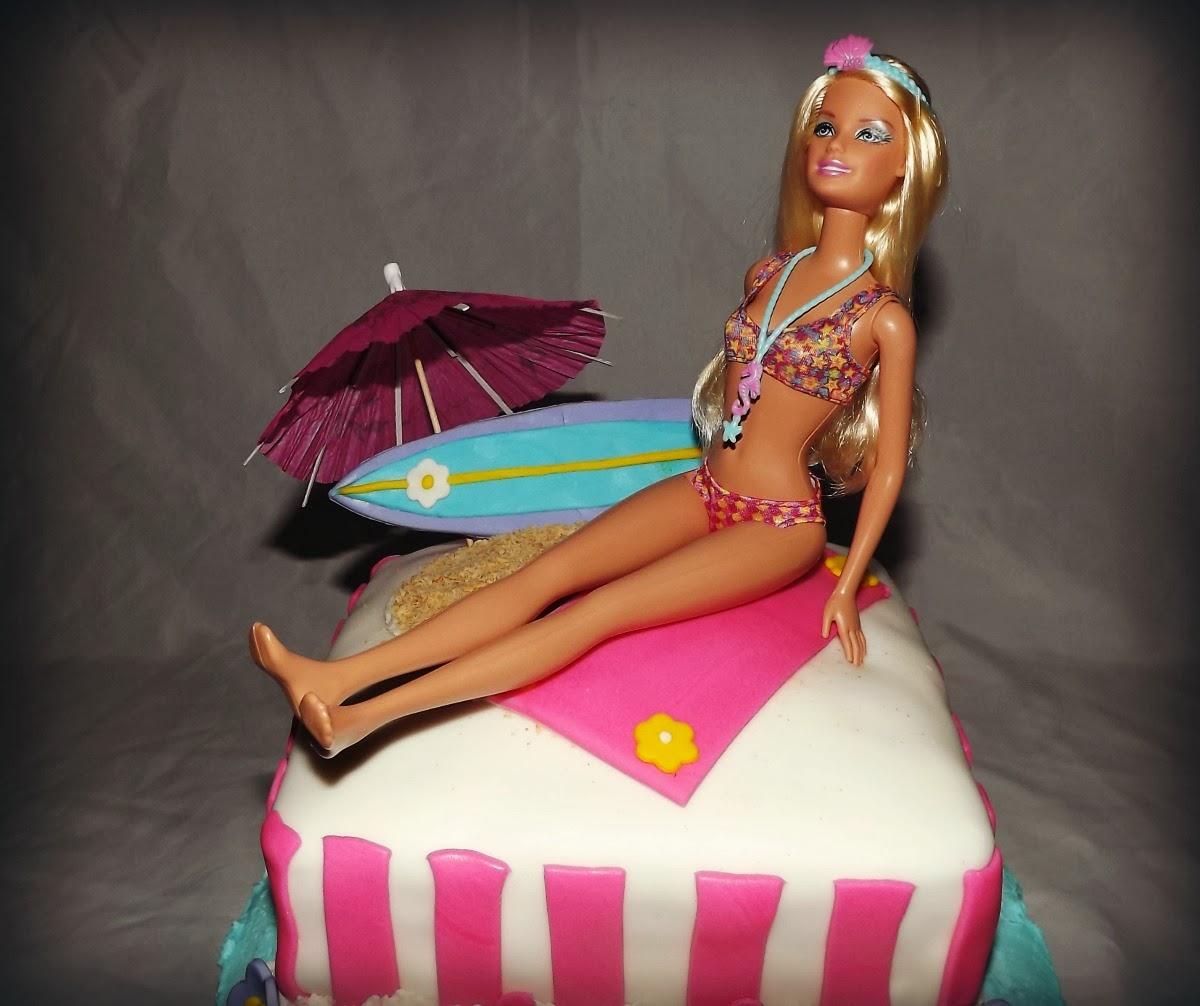 Mandy S Cakes Beach Barbie Birthday Cake For Savannah