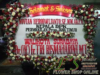 bunga papan walikota surabaya