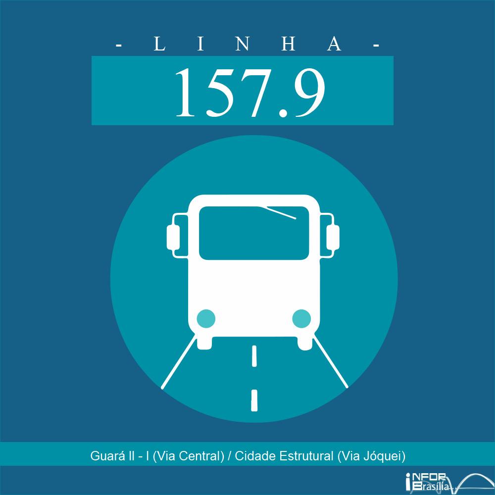 Horário de ônibus e itinerário 157.9 - Guará II - I (Via Central) / Cidade Estrutural (Via Jóquei)