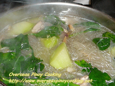 Tinolang Manok with Sotanghon Cooking Procedure