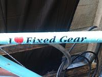 I love fixed Gear
