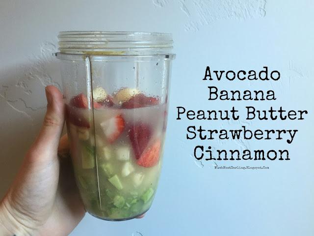 avocado banana peanut butter strawberry cinnamon