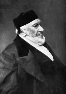 A late 18th century photograph of the Jewish philanthropist Moses Montefiore