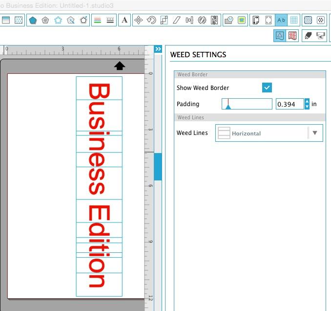 Silhouette tutorial, Silhouette Studio, weeding lines, business edition