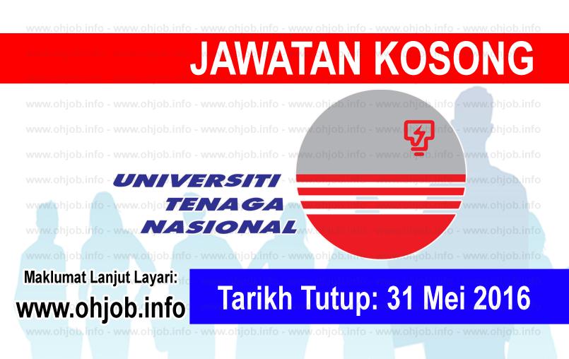 Jawatan Kerja Kosong Universiti Tenaga Nasional (UNITEN) logo www.ohjob.info mei 2016
