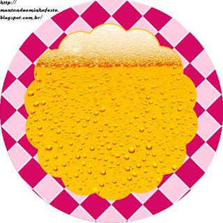 Toppers o Etiquetas para Imprimir Gratis de Fiesta de la Cerveza para Chicas.