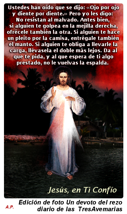 3 Hail Marys Foto Divina Misericordia Mateo 5 38 42