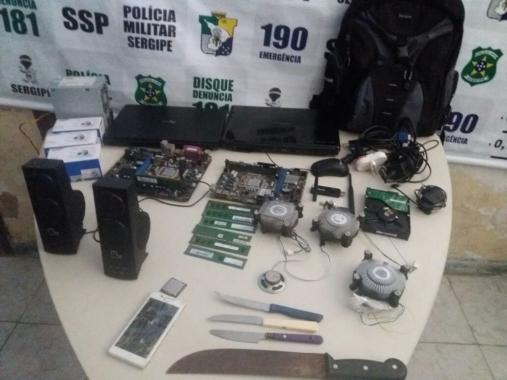Polícia desarticula associação criminosa que furtava equipamentos de informática no interior do Estado