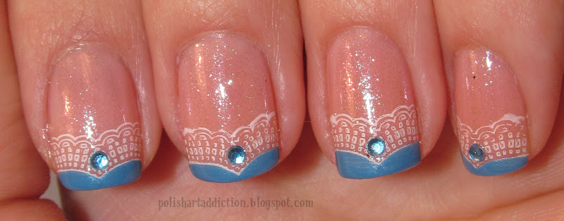 Disney's Cinderella Inspired French Tips