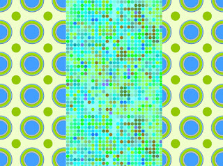 zwei Kreismuster mit Groß-Klein-Kontrast