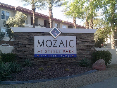 Mozaic at Steele Park monument sign