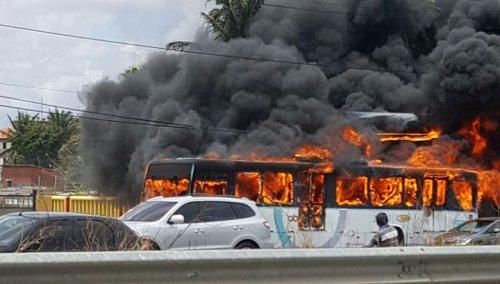 incendeiam ônibus