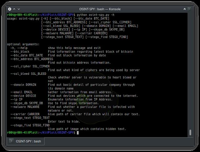 OSINT-SPY - Search using OSINT (Open Source Intelligence)