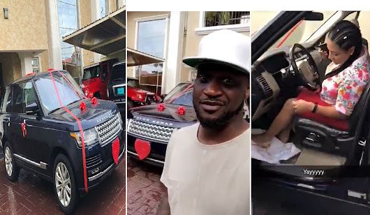 VIDEO: Peter of Psquare Surprises His Wife With A Range Rover SUV