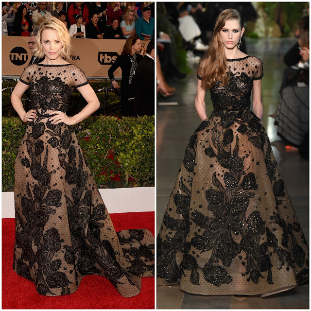 WHO WORE WHAT?.....SAG Awards 2016: Rachel McAdams in Elie Saab Haute Couture Spring 2015