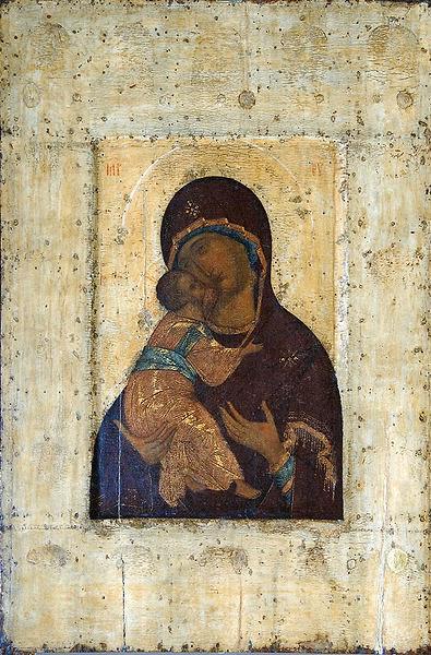 Versão de Theotokos de Vladimir - Andrei Rublev e suas pinturas ~ Bizantino