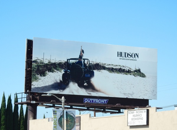 Hudson Jeans beach jeep billboard