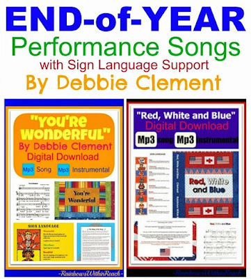 End of Year Performance Songs for Kindergarten and Preschool