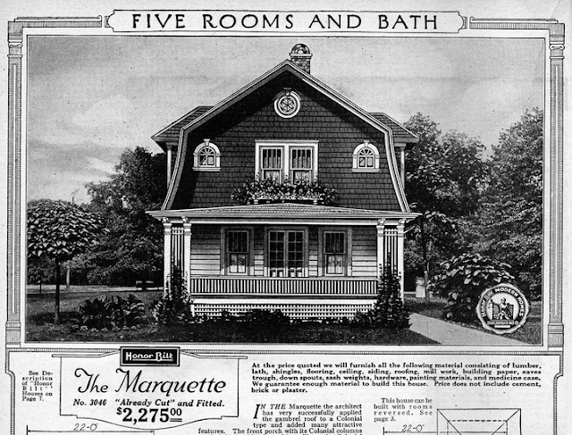 Daily Bungalow scan of Sears Marquette in 1923 catalog black and white