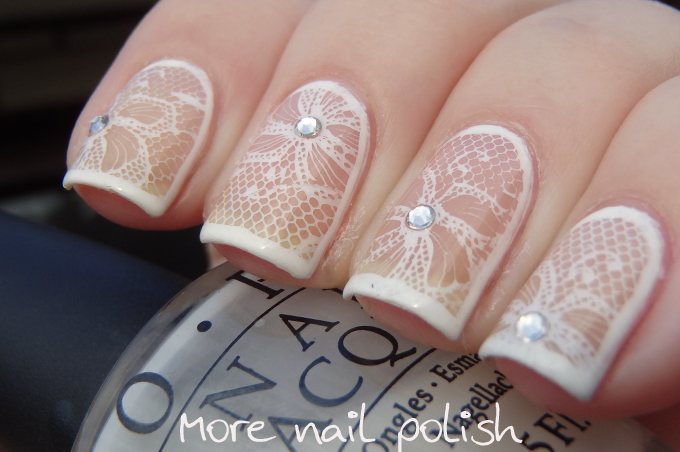 White Lace with Messy Mansion MM44 ~ More Nail Polish
