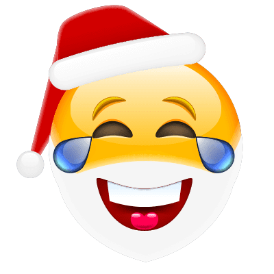 Laughing Santa Emoji