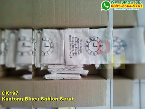 Kantong Blacu Sablon Serut