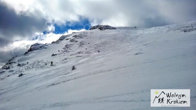 Słowacja Mała Farta szczyt Chleba zimą