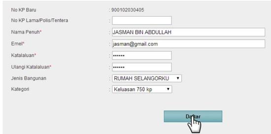 Permohonan Online Rumah Mampu Milik Selangor