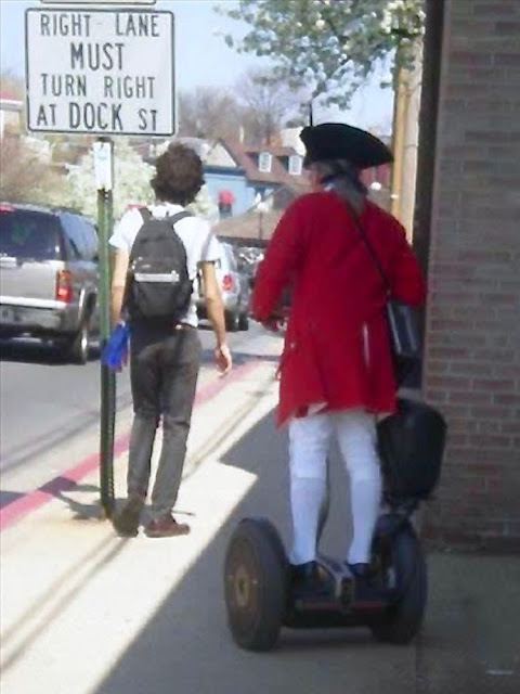 A Colonial red coat actor, takes his Segway on the road. Founding Father and TSA and Other stories of Past Leaders Responding to Now. Marchmatron.com