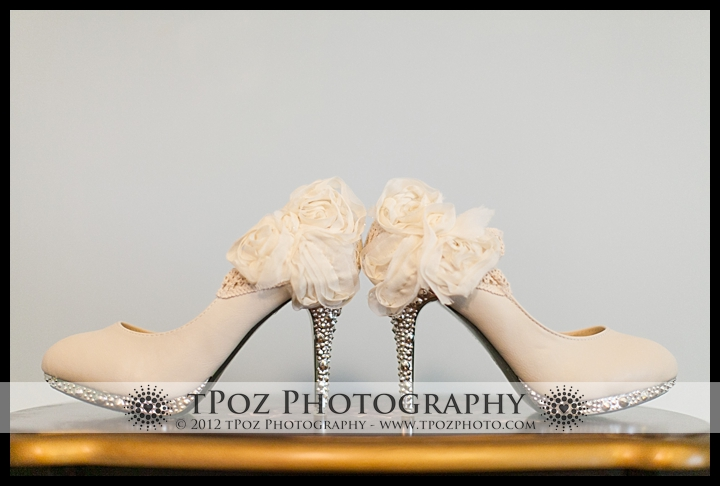 blinged out wedding heels