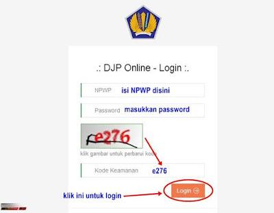 Login ke Akun DJP Online