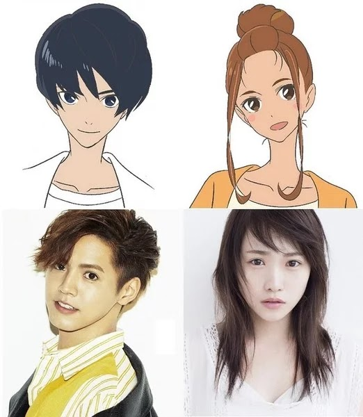 Ryota Katayose de GENERATIONS from EXILE TRIBE como Minato Hinageshi y Rina Kawaei como Hinako Mikaimizu
