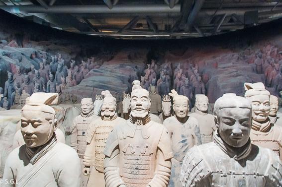 Soldados de Xian. Ejercito de Terracota