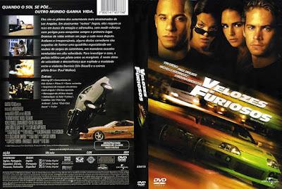 Filme Velozes e Furiosos (Fast and Furious) DVD Capa