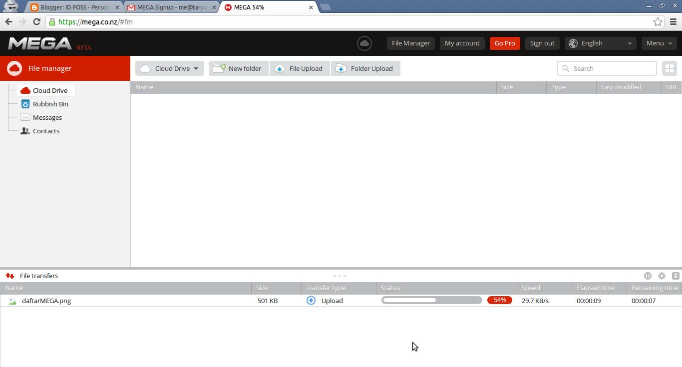 MEGA Media Penyimpanan Online Gratis 50GB Tanpa Syarat! - IT