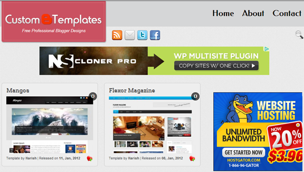 blogger templates by custom blogger templates
