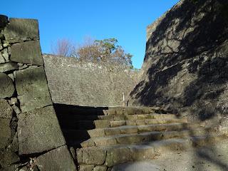 熊本地震前の熊本城(石垣)階段