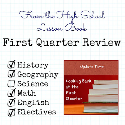From the High School Lesson Book - First Quarter Review on Homeschool Coffee Break @ kympossibleblog.blogspot.com
