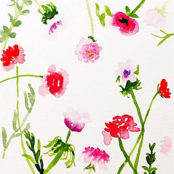 Kate Spade-inspired floral watercolor