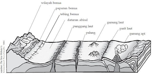 Relief atau Bentuk Muka Bumi di Dasar Laut