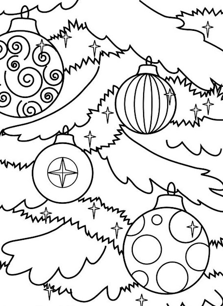 Coloring Pages Christmas Tree Ornaments