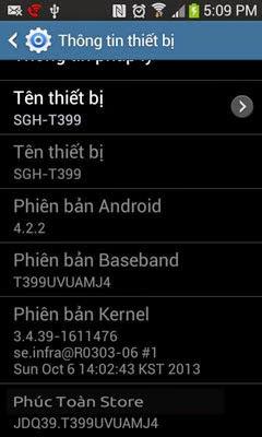 Tiếng Việt Samsung T399 alt