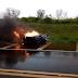 Camaro fica destruído após acidente na BR 277 em Candói