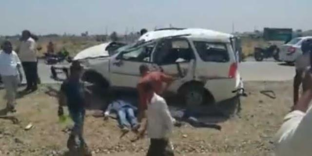 TATA SAFARI: बवंडर में पलट गई, 2 मौतें, 3 घायल | DEWAS MP NEWS
