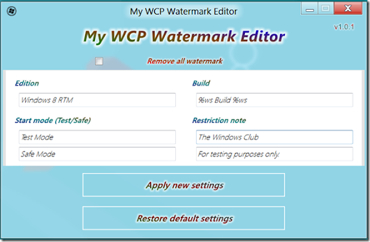 My WCP Watermark Editor  Windows