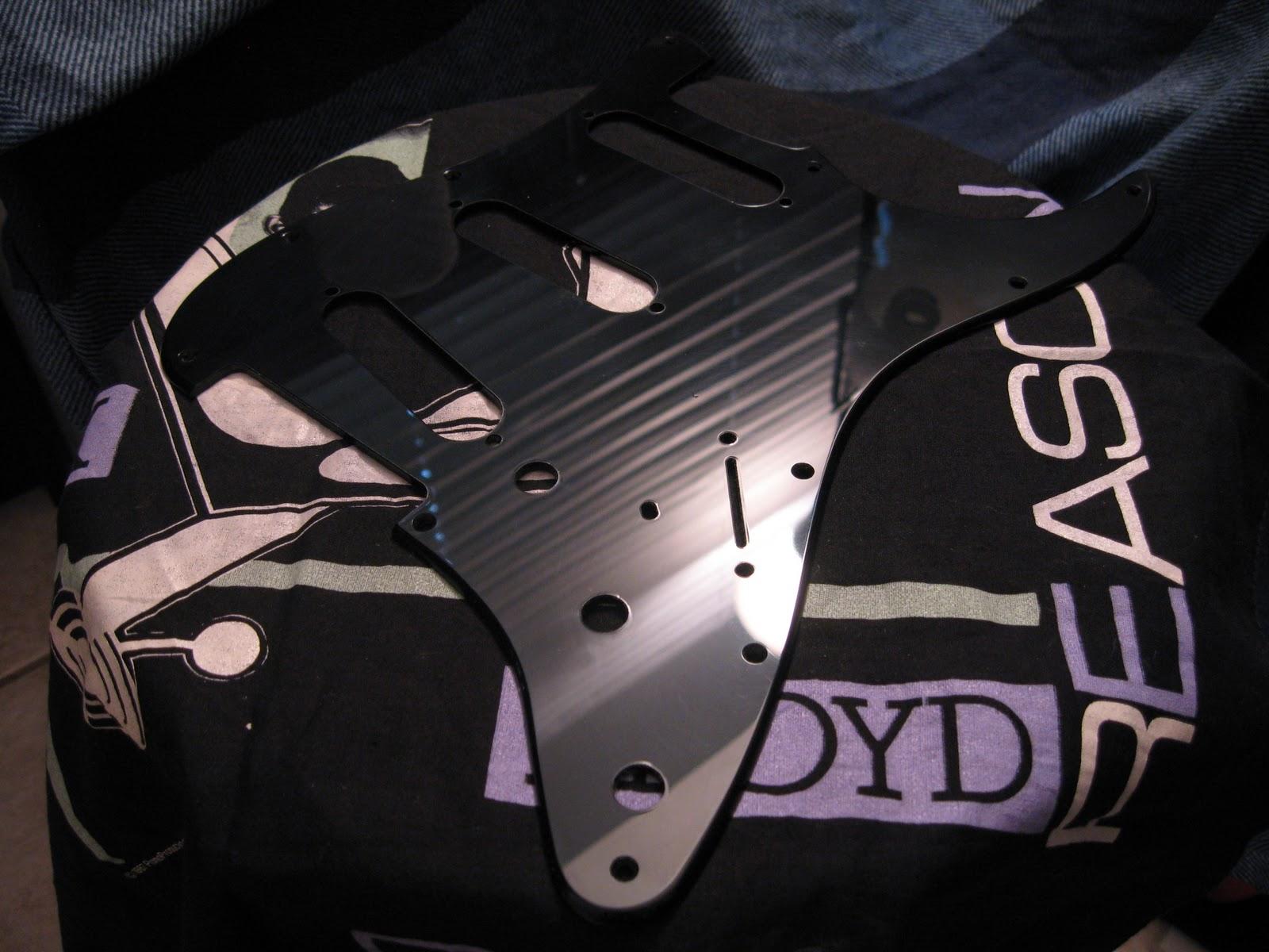 The Black Strat Build: #4  Putting the Black on the Black