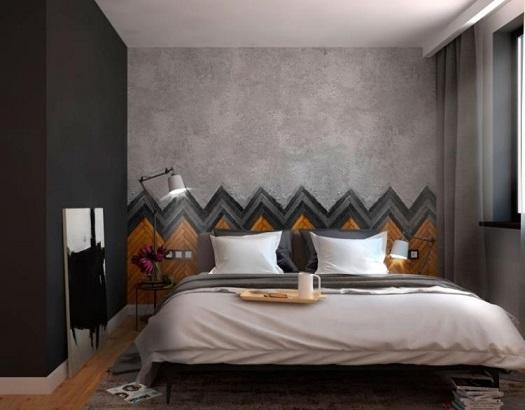 Dormitorios con pared del cabecero decorado dormitorios - Pared cabecero dormitorio ...