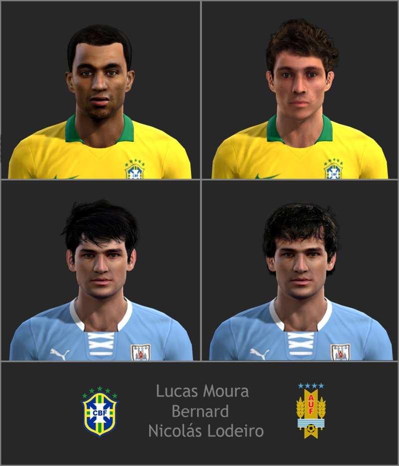 Lucas Moura Pes Stats 2011: Pes-modif: National Face Pack By Junior Lima